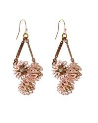 Lulu Frost - Pink Vivien Peony Drop Earrings - Lyst