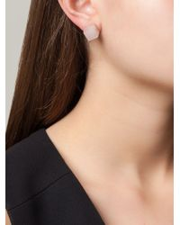 Vita Fede - Pink Square Pearl Earrings - Lyst