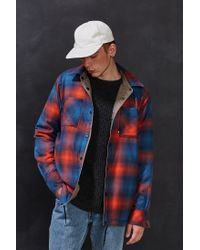 The North Face - Blue Fort Point Flannel Shirt Jacket for Men - Lyst