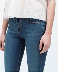 Zara   Blue Basic Jeans   Lyst