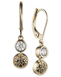 Judith Jack | Metallic 14k Gold-plated Marcasite & Cubic Zirconia Drop Earrings | Lyst