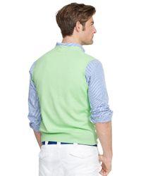 Polo Ralph Lauren | Green Pima V-neck Vest for Men | Lyst