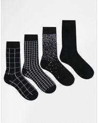 Jack & Jones | Black 4 Pack Socks for Men | Lyst