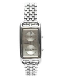Hermès - Metallic Pre-owned Dual Time Zone Stainless Steel Cape Cod Watch - Lyst