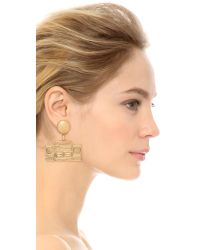 Moschino - Metallic Boombox Earrings - Gold - Lyst