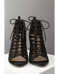 Forever 21 | Black Lace-up Faux Suede Pumps | Lyst
