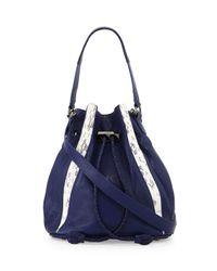 Khirma Eliazov - Blue Watersnake Mini Bucket Bag - Lyst