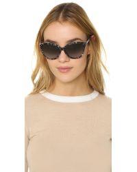 Diane von Furstenberg | Gray Harper Sunglasses | Lyst