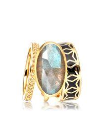 Astley Clarke | Metallic London Nights Star Mosaic Ring | Lyst