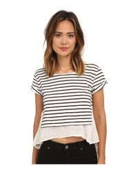 bac56117d Lyst - Free People French Kiss Tee in Blue