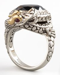 John Hardy - Metallic Hematite Dragon Ring Small - Lyst