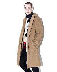 3.1 Phillip Lim | Blue Wool Balmacaan Coat for Men | Lyst