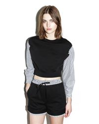 3.1 Phillip Lim   Black French Terry Top   Lyst
