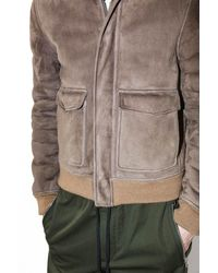 3.1 Phillip Lim - Natural Shearling-lined Pilot Bomber Jacket for Men - Lyst