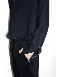 3.1 Phillip Lim - Black Roll-edge Crewneck Sweatshirt for Men - Lyst