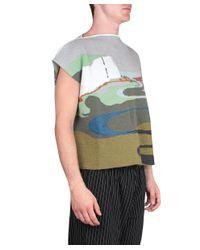 J.W.Anderson - Multicolor Mohair Cape for Men - Lyst