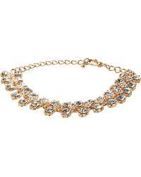 Dune | Jolie Diamante Trim Rose Gold Metallic Bracelet - For Women | Lyst
