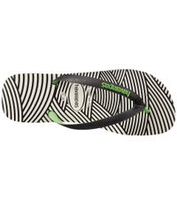 Havaianas | Black Top Optical Zig Zag Sandal for Men | Lyst