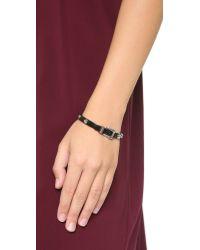 Michael Kors - Two Tone Buckle Bangle Bracelet - Silver/black - Lyst