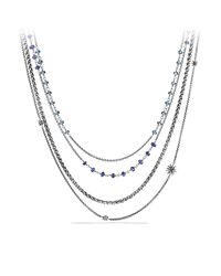 David Yurman | Metallic Necklace With Iolite And Blue Topaz | Lyst