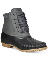 Tommy Hilfiger | Gray Charlie Duck Boots for Men | Lyst