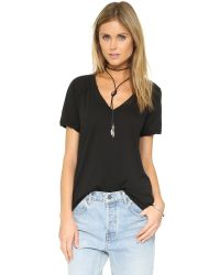 Free People - Black Pearls Tee - Lyst