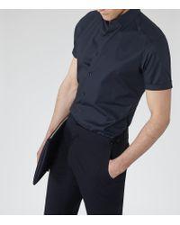 Reiss | Blue Redmayne Short Sleeve Shirt for Men | Lyst