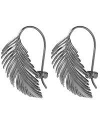 Alex Monroe - Metallic Silver Large Palm Hook Earrings - Lyst