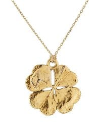 Aurelie Bidermann | Metallic Aurélie Bidermann Fine Jewelry 18kt Gold Mini Clover Necklace | Lyst