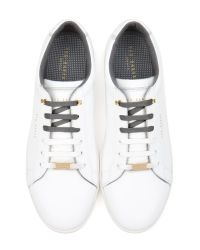 Ted Baker - White Leather Low Top Trainers for Men - Lyst