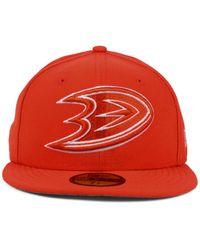 KTZ - Orange Anaheim Ducks C-dub 59fifty Cap for Men - Lyst