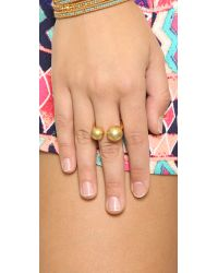 Madewell | Metallic Odd Ball Ring - Vintage Gold | Lyst