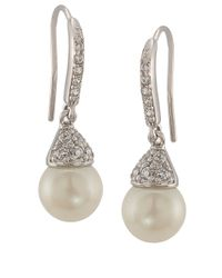 Carolee | White The Looking Glass Pearl Drop Earrings | Lyst