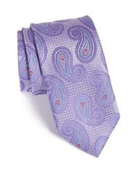 John W. Nordstrom | Purple 'spacey' Paisley Silk Tie for Men | Lyst