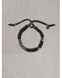 John Varvatos - Black Wrapped Leather Bracelet for Men - Lyst
