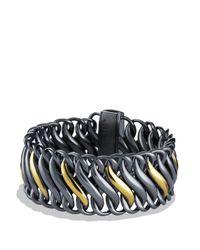David Yurman | Metallic Metro Cable Bracelet With Gold | Lyst