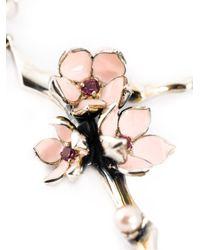 Shaun Leane | Metallic Sterling Silver 'cherry Blossom' Rhodolite Earrings | Lyst