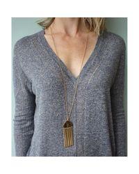 Lele Sadoughi | Metallic Comb Tassel Pendant Necklace | Lyst