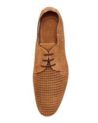 Vince Camuto - Brown Adro Perforated Suede Lace-up Tan - Lyst