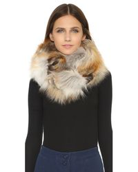 Jocelyn | Natural Fur Double Sided Infinity Scarf | Lyst