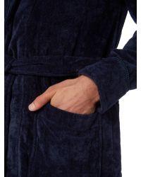 Howick | Gray Plain Towelling Robe for Men | Lyst