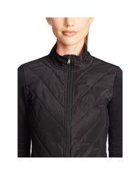 Ralph Lauren - Black Quilted-front Mockneck Jacket - Lyst