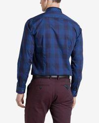 Ted Baker | Blue Lostone Check Shirt for Men | Lyst