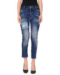 DSquared² | Blue Denim Trousers | Lyst