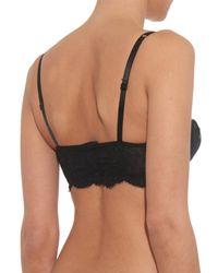 Dolce & Gabbana - Black Lace-Trim Balconette Bra - Lyst
