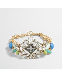 J.Crew | Multicolor Factory Crystal Center Bracelet | Lyst