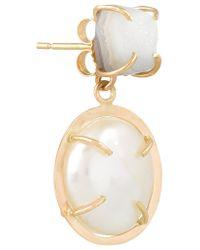 Melissa Joy Manning | Metallic 14-karat Gold, Pearl And Druzy Earrings | Lyst