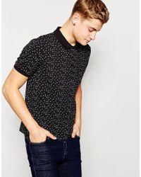 Native Youth | Black Star Pique Polo Shirt for Men | Lyst