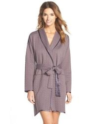 Carole Hochman - Brown Geometric Quilted Robe - Lyst