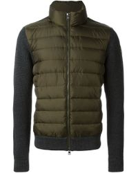 Moncler - Green Padded Jacket for Men - Lyst